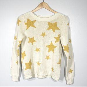 Women's Intarsia Gold Star Sweater